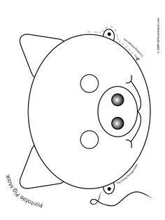 Printable Pig Mask Coloring Page Pig Mask Animal Masks