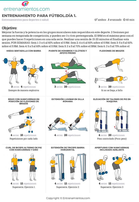 ejercicios de fuerza piernas futbol