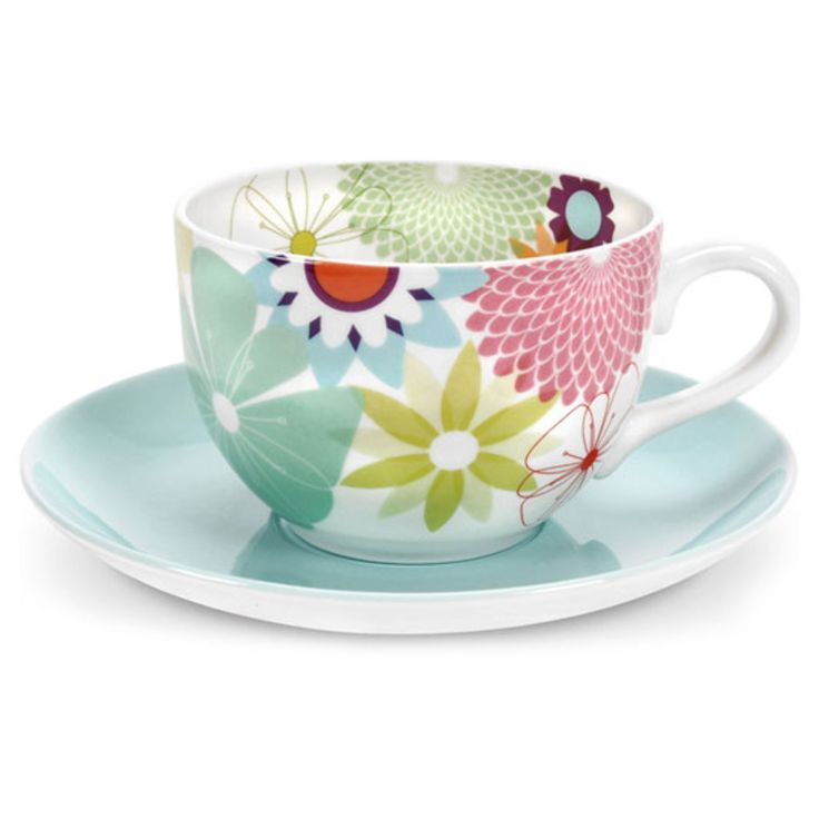 Portmeirion Cup and Saucer Set in Crazy Daisy: Tea Time, Daisies ...