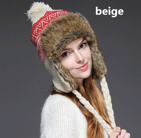 bb2a9e6f8420c Hairball knit bomber hat for winter womens fleece hats