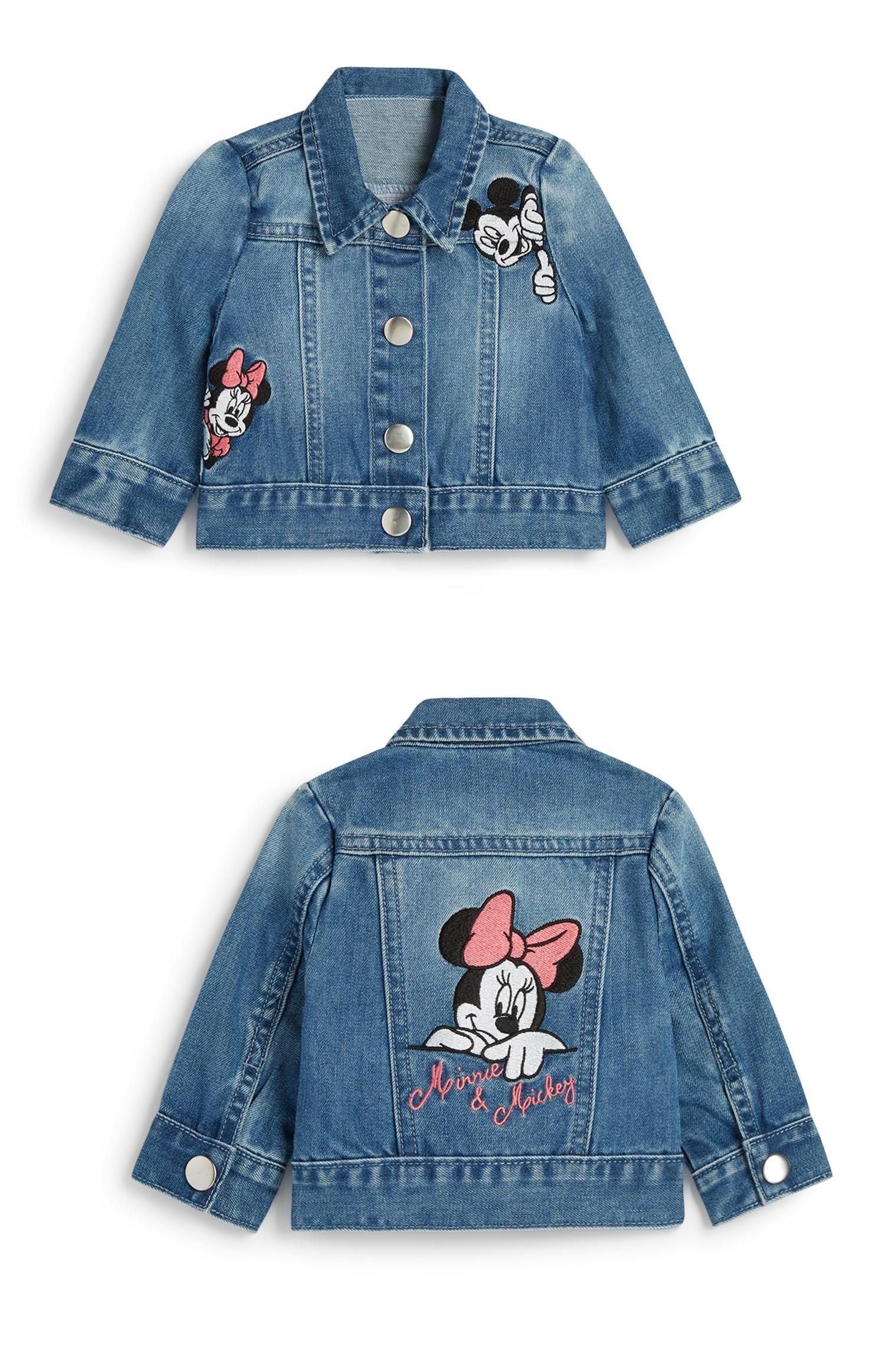 Primark Baby Girl Minnie Mouse Denim Jacket Baby Denim Jacket Jean Jacket For Girls Girls Denim Jacket [ 2324 x 1500 Pixel ]