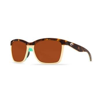 Free Shipping Available   Take a touch of the tropics with you everywhere you go with the Anaa Tortoise - Copper 580P Sunglasses by Costa Del Mar.