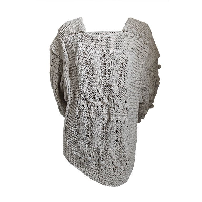 early 1980's ISSEY MIYAKE oatmeal hand knit sweater