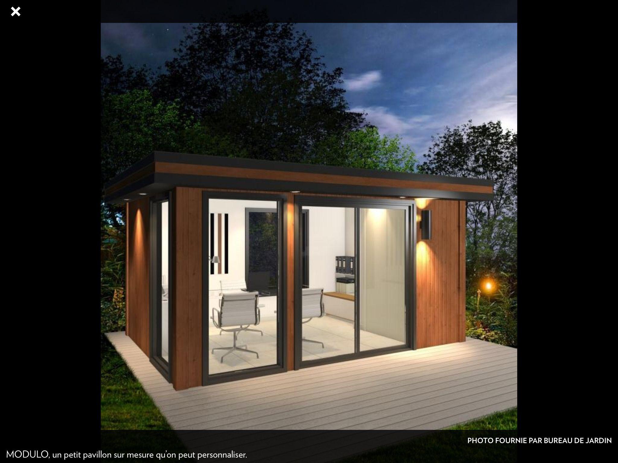 Petit bureau dans le jardin mais petits bureaux