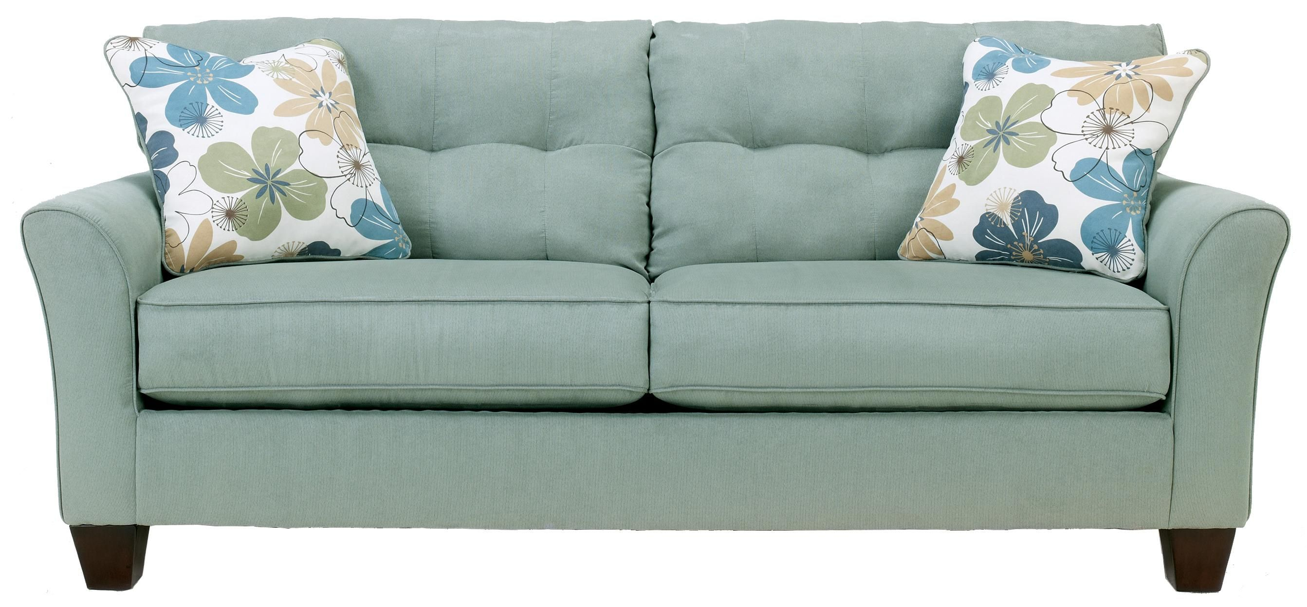 Kylee Lagoon Sofa By Signature Design By Ashley With Images Cushions On Sofa Living Room Furniture Ashley Furniture