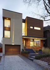 warm modern facade