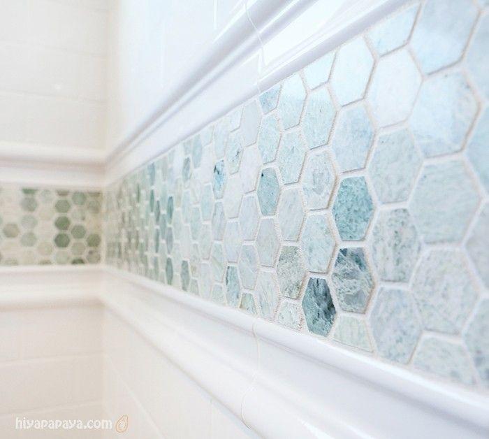 Hexagon Tile Backsplash Foter Bathroom Border Tiles Small Bathroom Hexagon Tile Backsplash