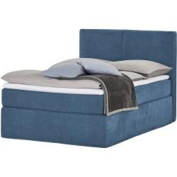 Photo of Box spring bed Boxi ¦ blue ¦ Dimensions (cm): W: 140 H: 125 beds> Box spring beds> Box spring beds 140x