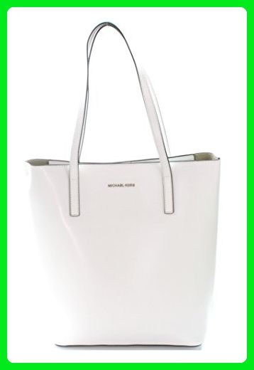 18a789bce93b MICHAEL Michael Kors Emry Large North South Leather Tote in Optic White -  Totes (