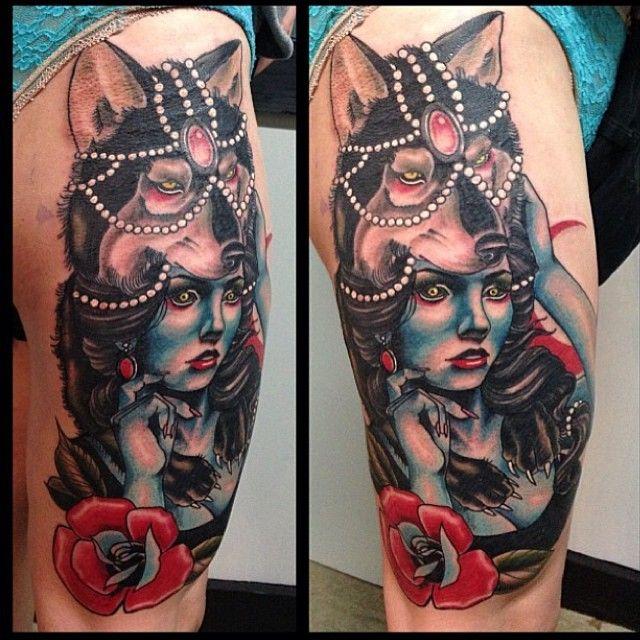 wolf girl tattoos - Google Search