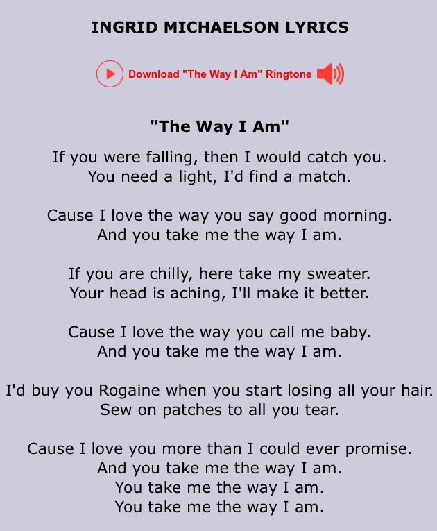 Ingrid Michaelson - The Way I Am - \