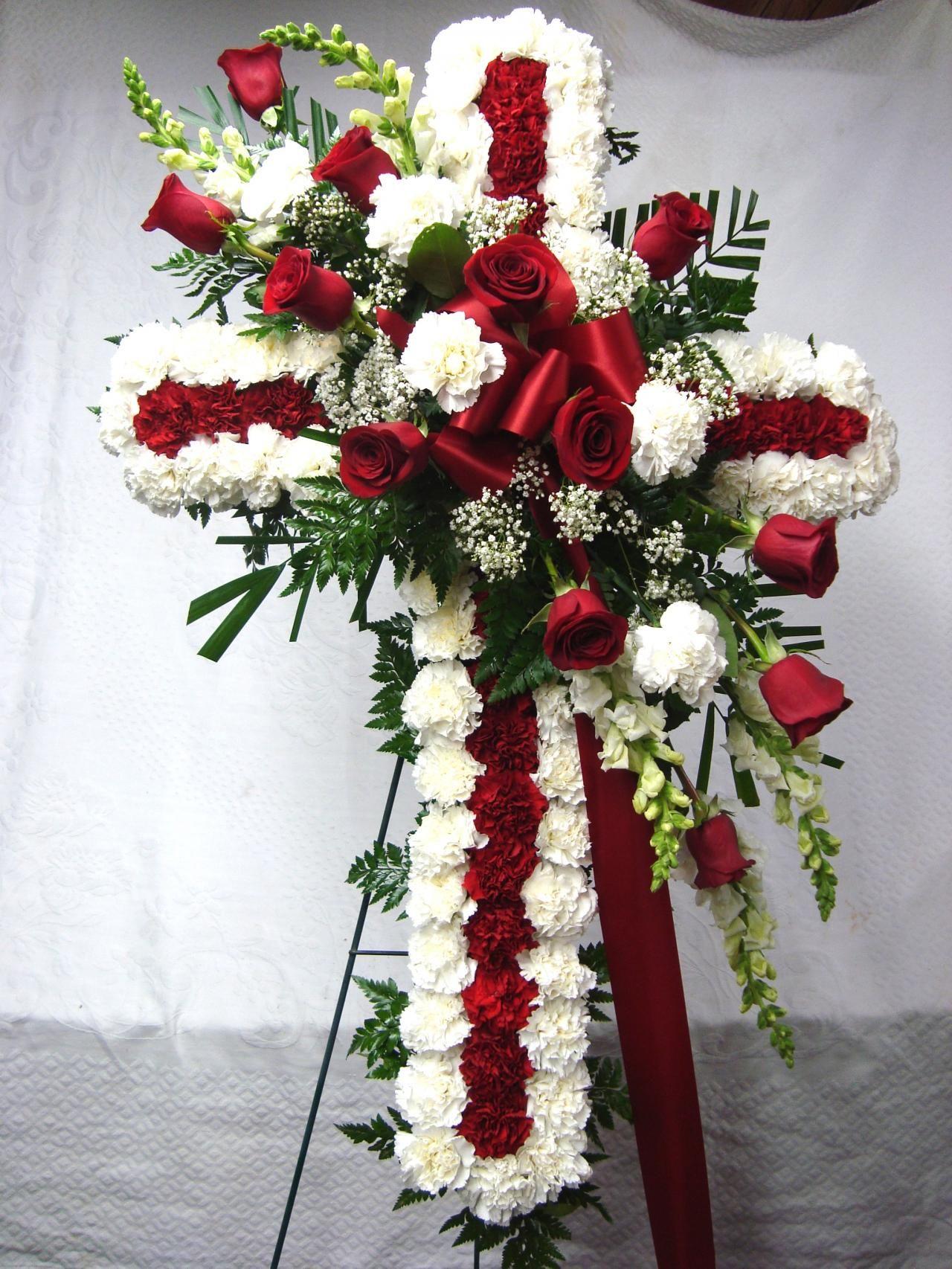 6cross84163416largeg 12801706 floral swags pinterest funeral flower arrangements 6cross84163416largeg 12801706 izmirmasajfo Image collections