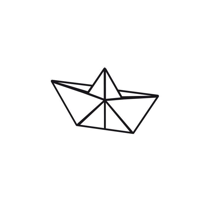 bateau origami dessin