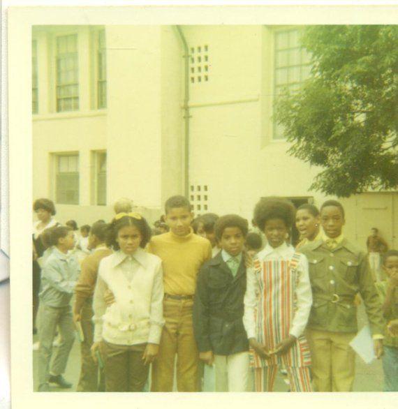 African American Teenage Girls Fashion: 1970s African American Black Teens At School Afro Girls