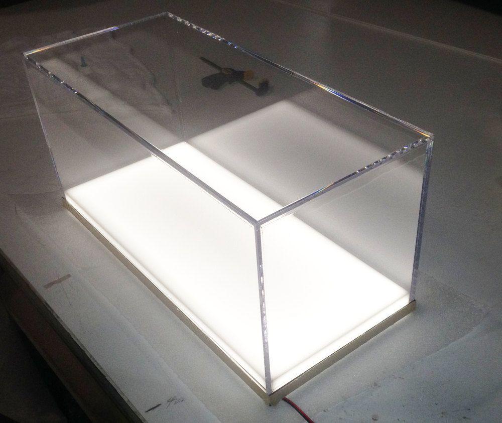 Custom Fabricated Clear Acrylic Display Case-Box (White Acrylic ...