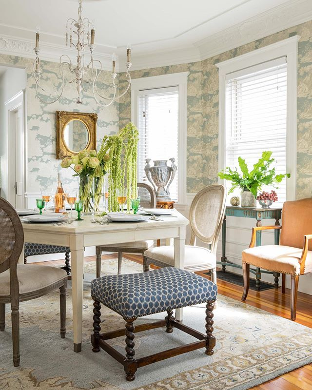 Mismatched seating helps strike a balance between ...