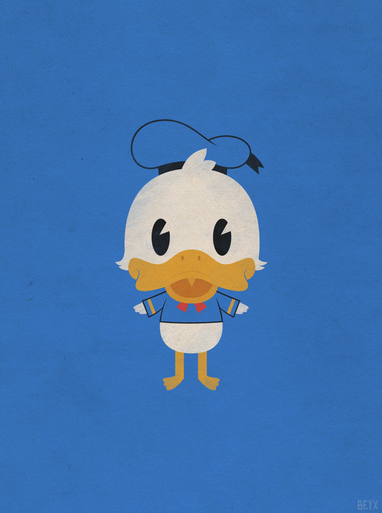 Donald Duck By Beyx On Deviantart Duck Wallpaper Disney Minimalist Donald Duck