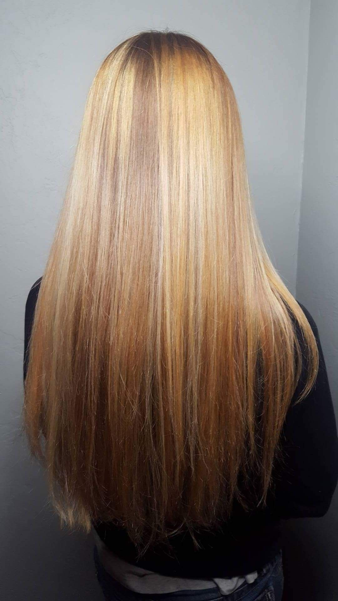 Blonde and gold balayage hairstyling by danielle pinterest