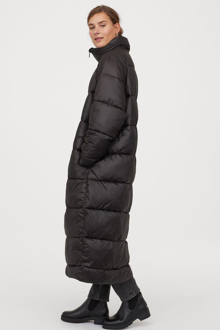 Puffer Jacket Black Ladies H M Us Long Black Puffer Coat Black Puffer Coat North Face Coat [ 1152 x 768 Pixel ]