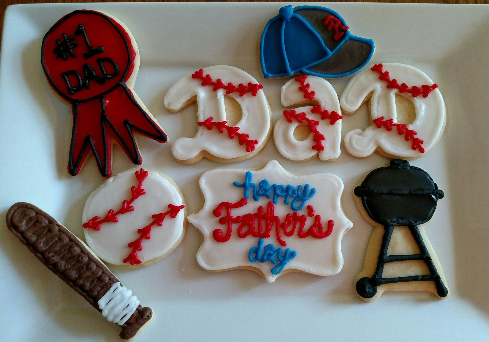 Fathers day sugar cookie cookies desserts