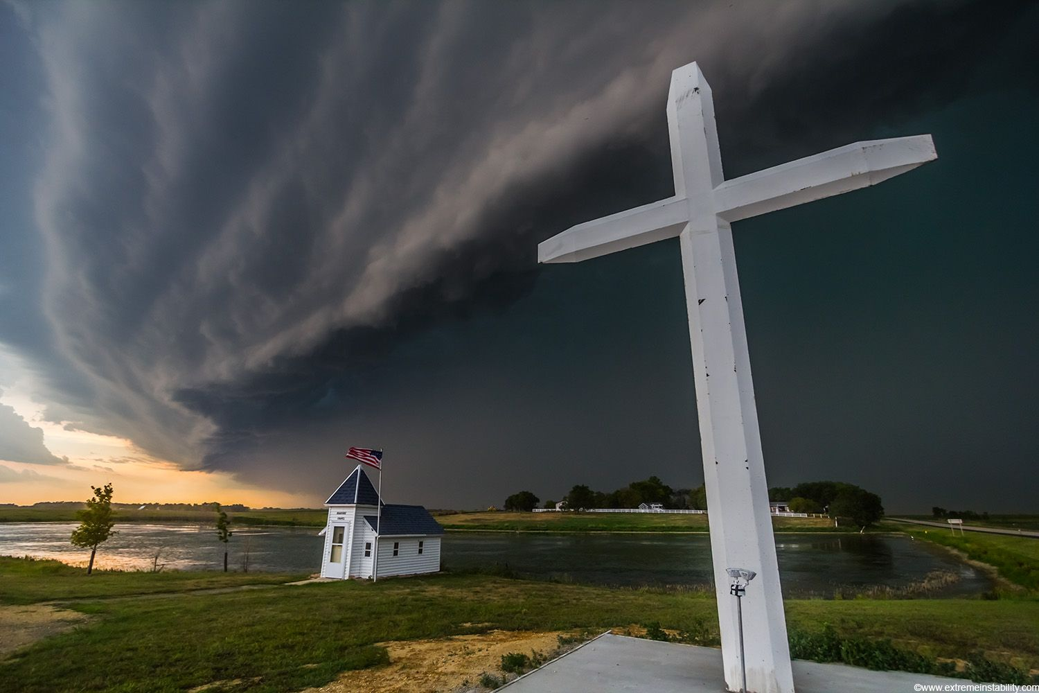 Bow echo, moving 60mph, down the highway, Watertown, SD, 2012.  http://www.extremeinstability.com/selects.html