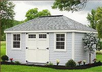 10 X 16 Vinyl New England Hip Roof Shed Shed Vinyl Sheds Hip Roof