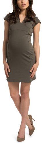 ESPRIT - Vestido premamá con cuello de pico de manga corta para mujer, talla 36, color verde (laurel green 309)