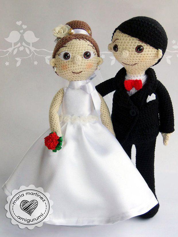 Novios Crochet Patron Gratis Maria Martinez Amigurumi … | amigurumi ...