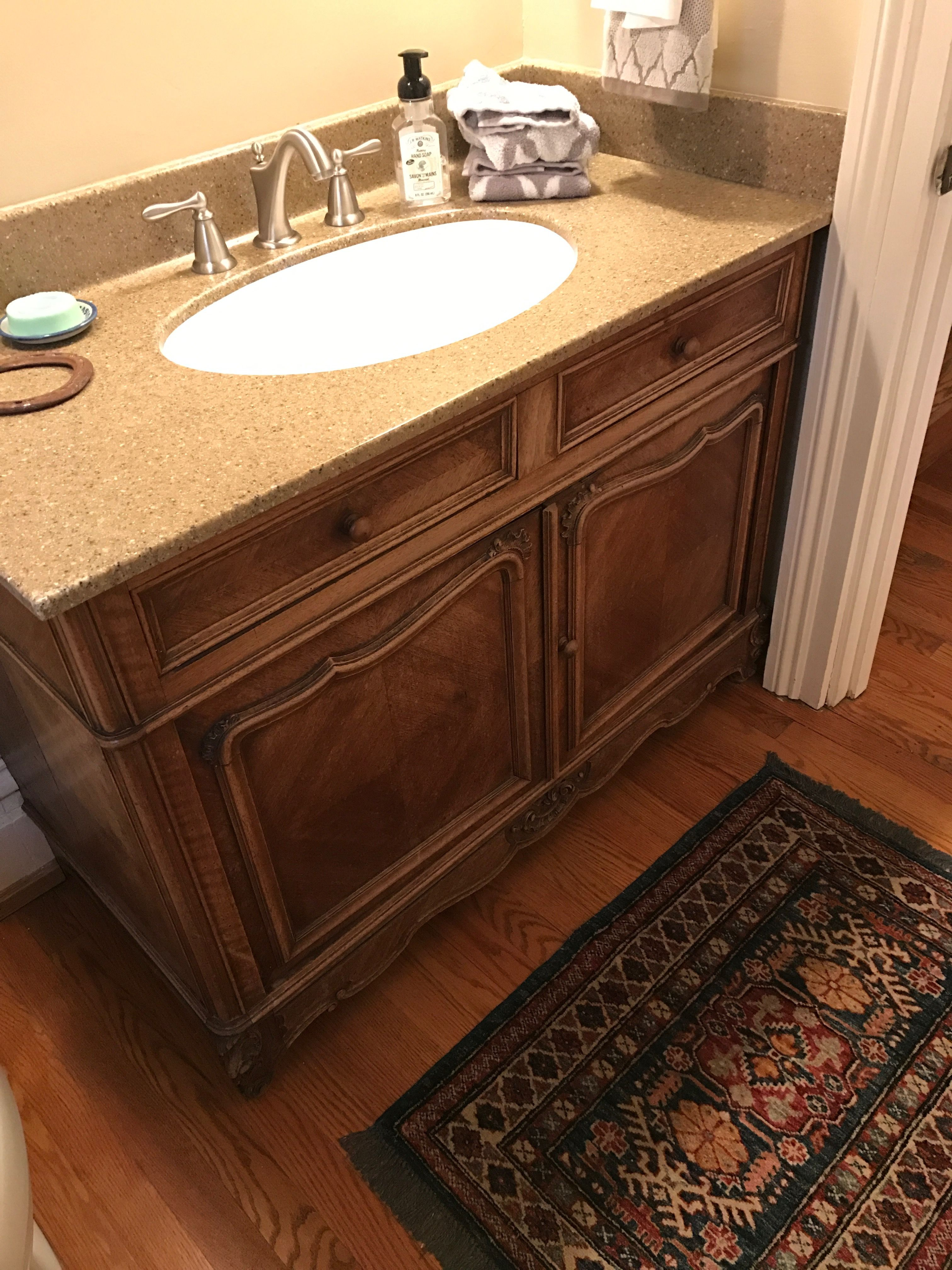 paint existing vanity replace counter sink faucet on replacement countertops for bathroom vanity id=38083