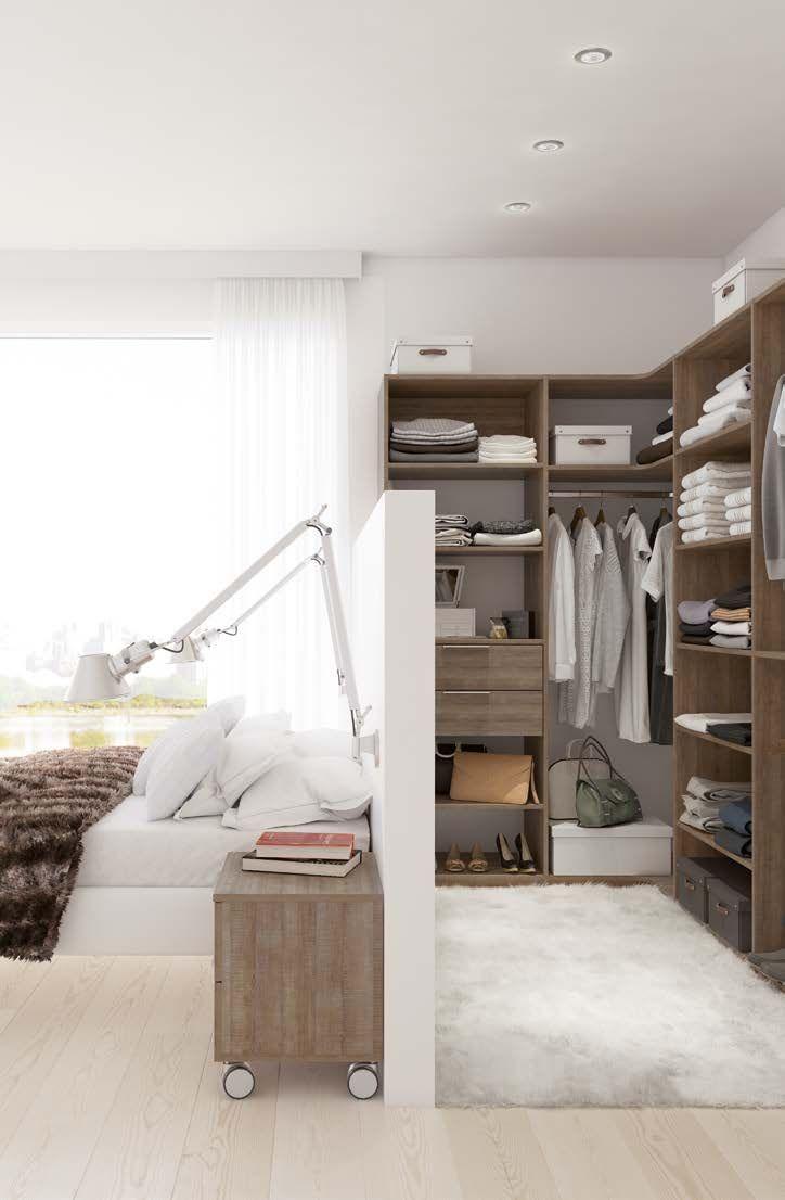 Dressing avec cloison tête de lit ložnice bedroom pinterest