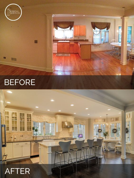 Small Kitchen Renovations Before And After Beautiful Kitchens - Kitchen remodels before and after photos