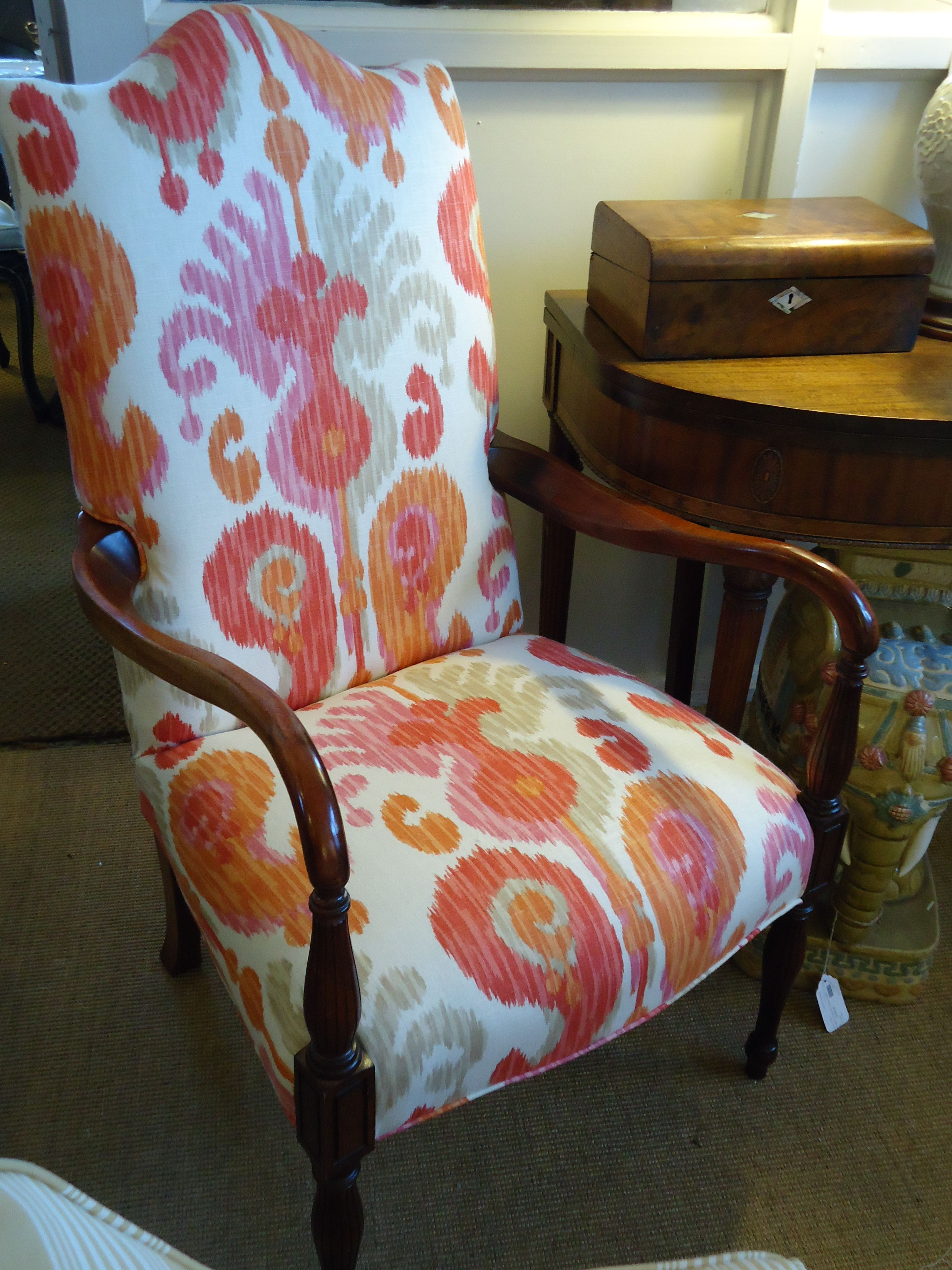 I Want To Update A Boring Martha Washington Chair This Isn 39 T Exactly The Color But It Is Th