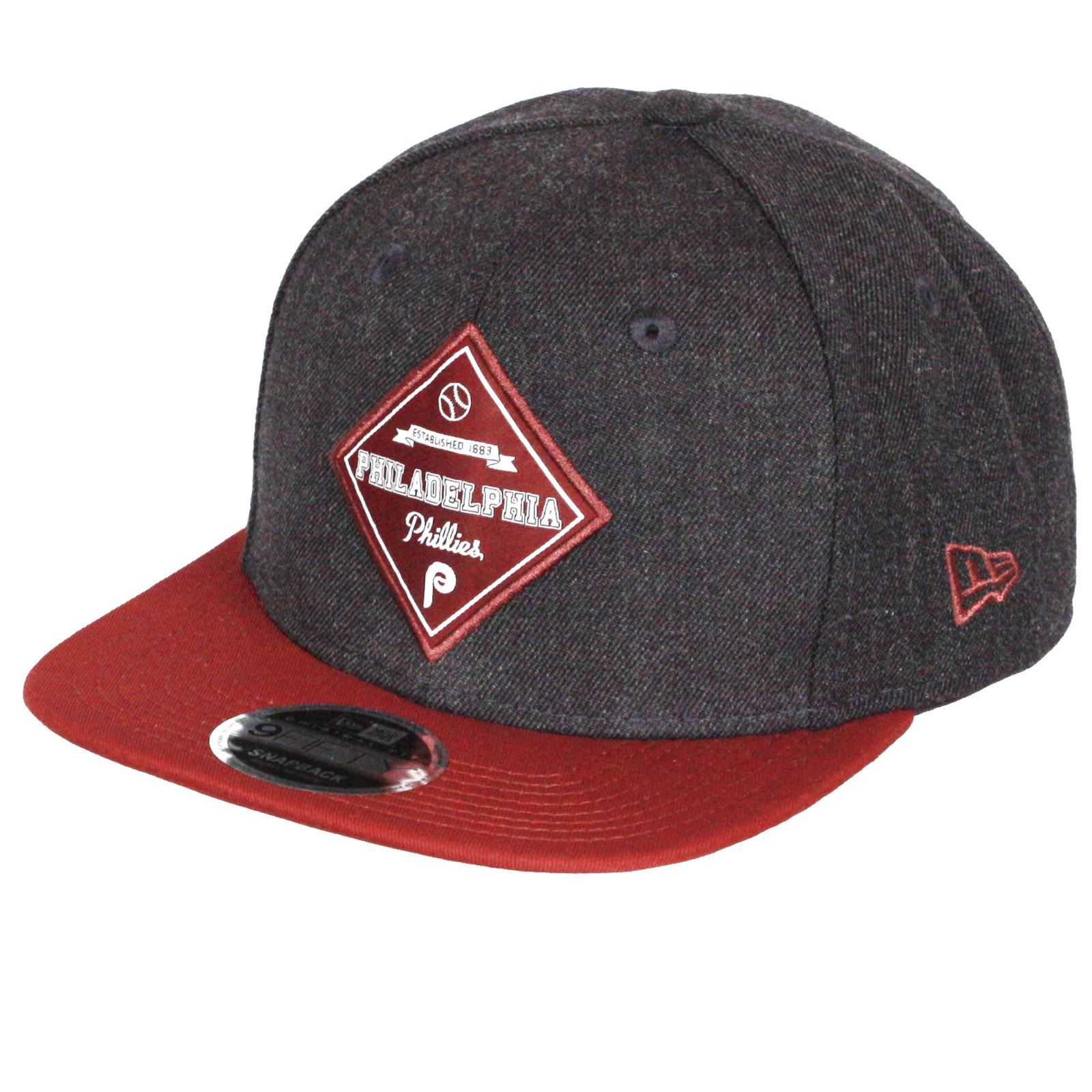 new arrival 0be60 e5c00  40 New Era and MLB Heather Coop Patch 9Fifty Flatbill Cap ~ Philadelphia  Phillies