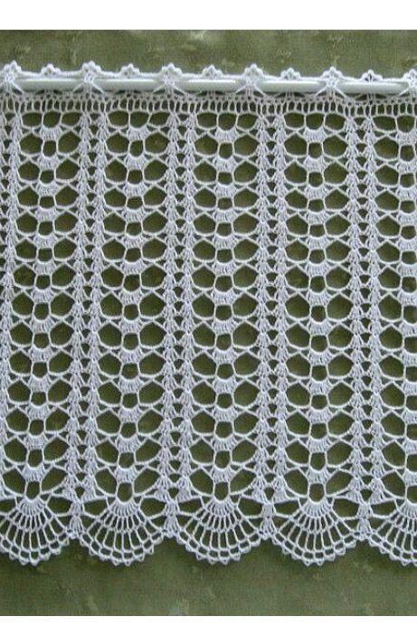 Hakelgardine Handarbeit Gehakelte Gardine Hake Gardine Gehakelte Hake Hakelgardine Handarbe Bicos De Croche Simples Curtina De Croche Caminho De Mesa De Croche