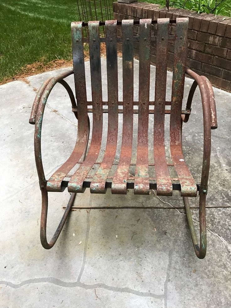 Mid Century Lloyd Vintage Metal Lawn Chair See History At Www