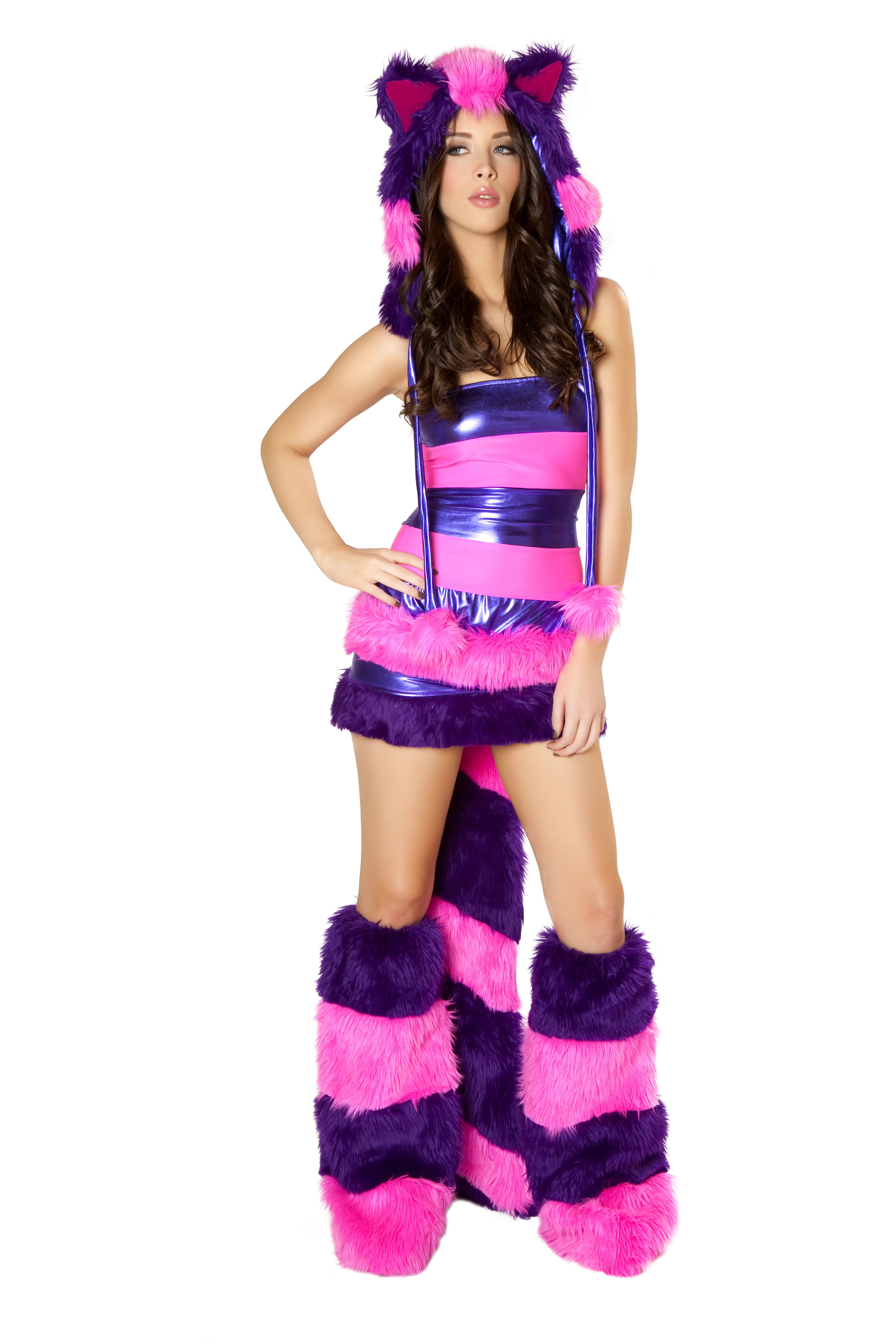furry cheshire cat two piece costume by j valentine faux fur cheshire cat halloween costume - Cat Outfit For Halloween