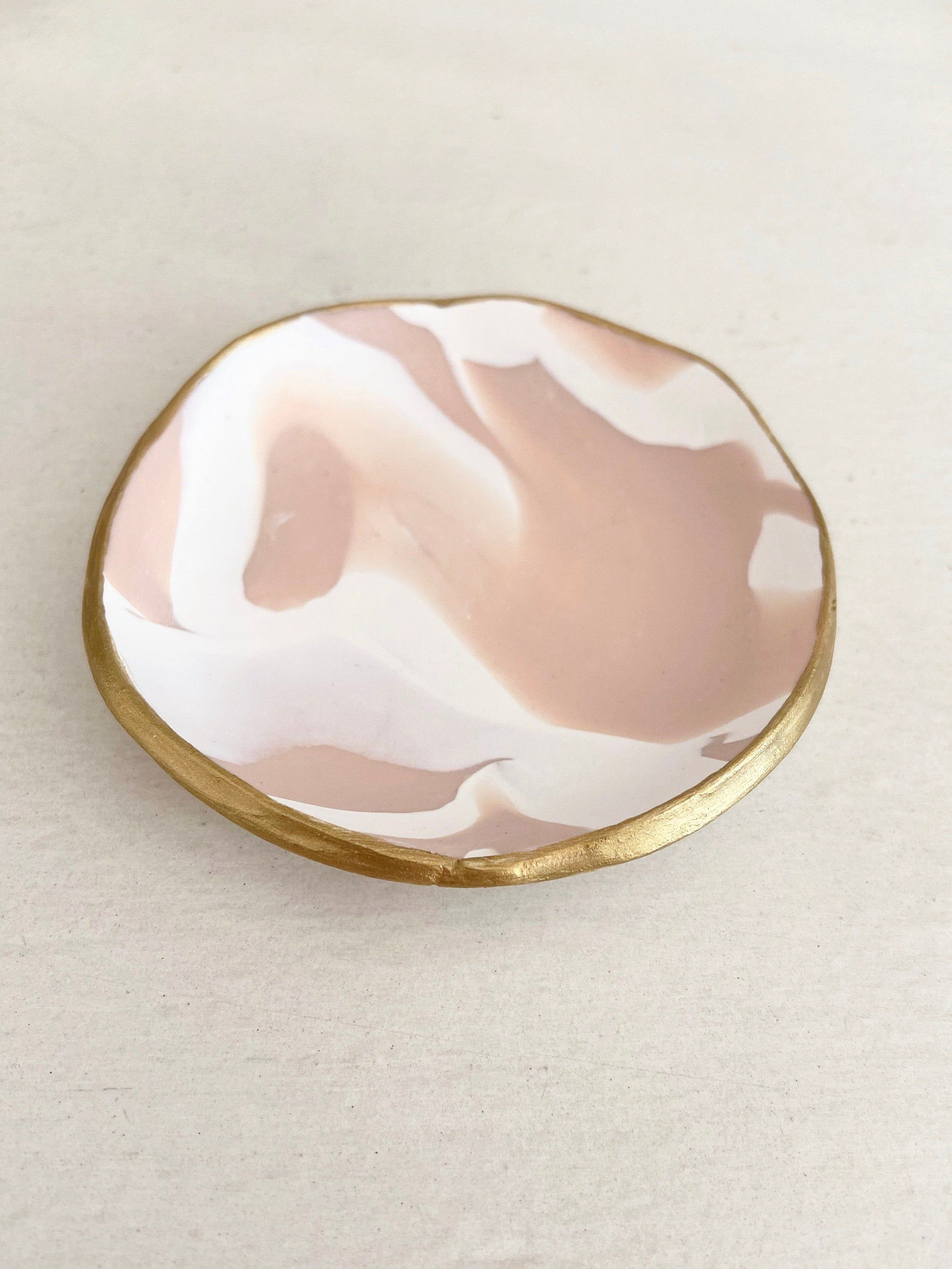 Wedding Favors Gift for Her Minimalist White /& Rose Gold Heart Jewelry Dish  Wedding Gift Engagement Gift