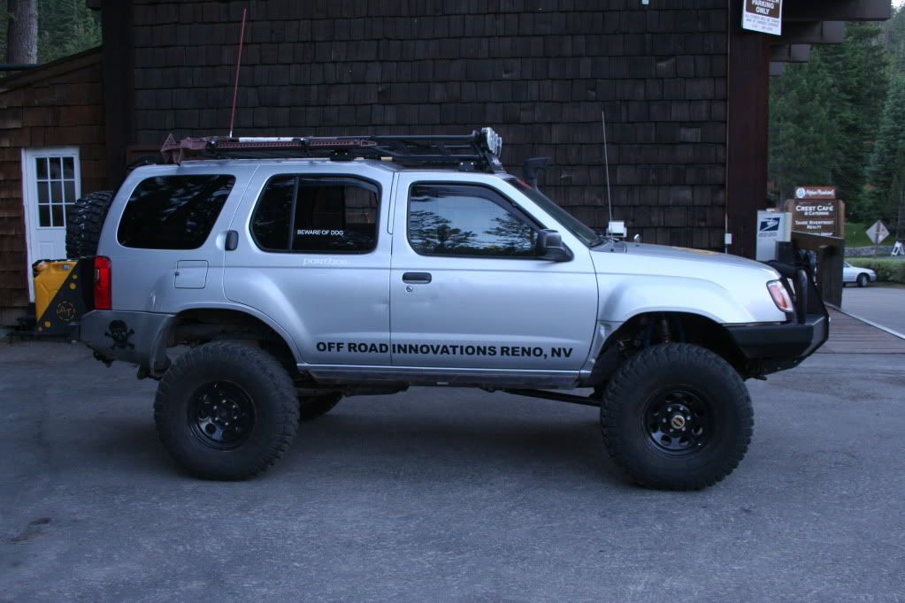 I Believe This Is A 1st Gen Love The Rear Rack For Fuel Cans Nissan Xterra Overland Vehicles Nissan