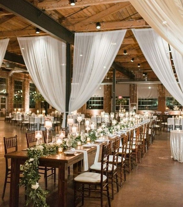 Draping Barn Wedding: 18 Country Barn Wedding Reception Ideas With White Draping