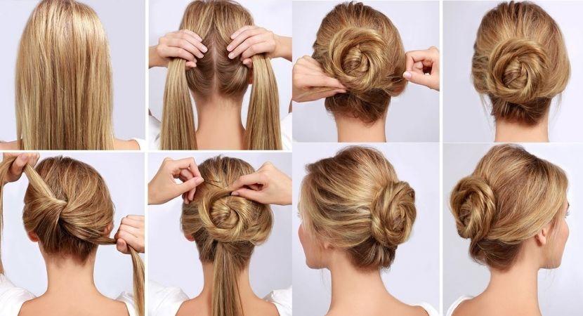 Mono Bajo Paso A Paso Peinados Faciles Para Cabello Largo Peinados Faciles Paso A Paso Peinados Faciles Pelo Corto