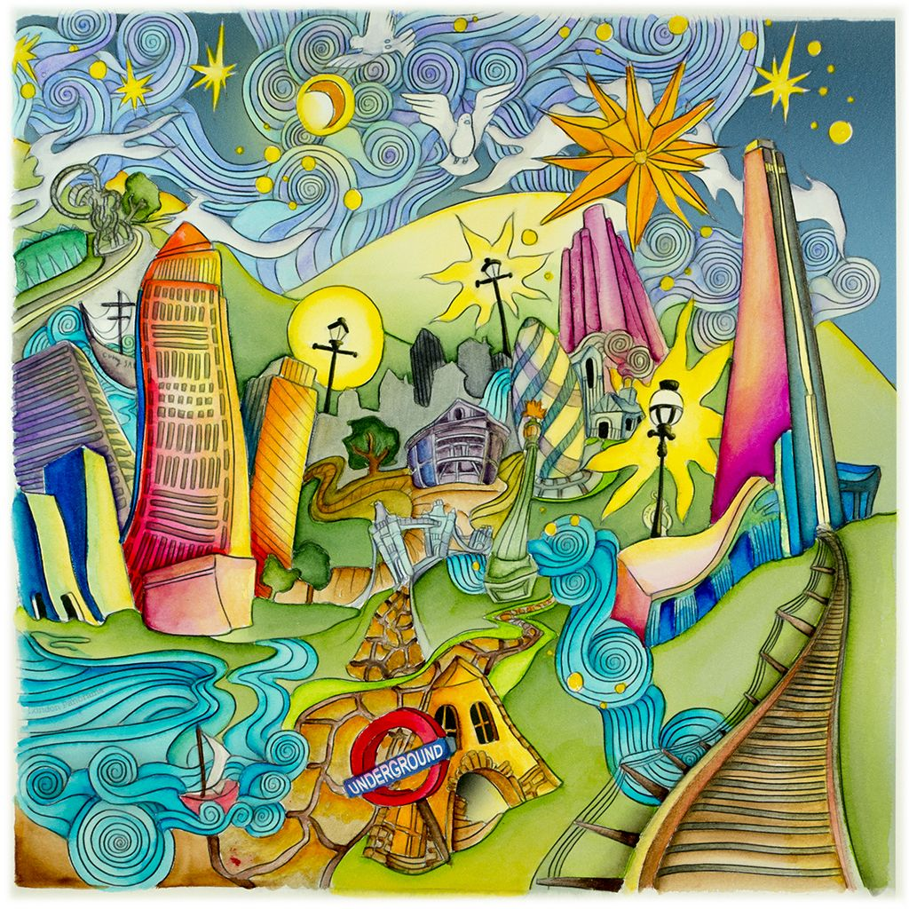 Th the magical city colouring in book - London Panorama Lft Side From Lizzie Mary Cullen Book Magical City