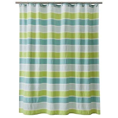Threshold Seersucker Shower Curtain Green Target Striped