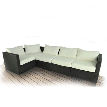 Outsunny 5pc Stylish Outdoor PE Rattan Wicker Patio Sofa Furniture
