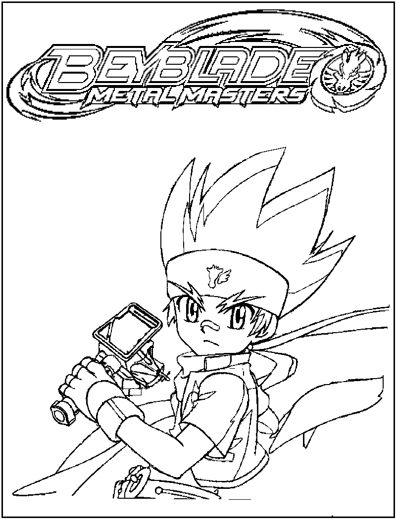 free printable beyblade coloring pages