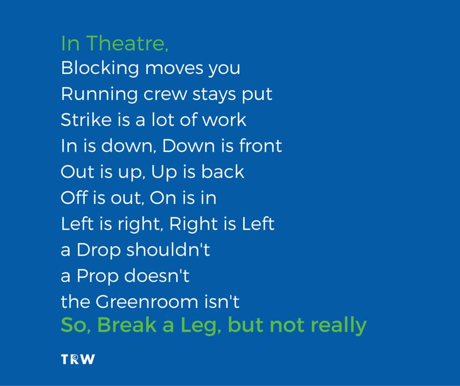 Musical Theatre Quote | musicals | Theatre quotes, Musical ...