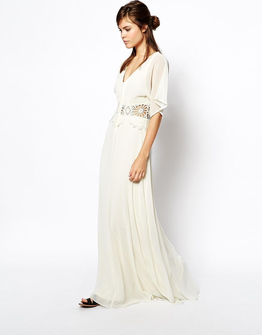 Cream Maxi Dresses For Weddings. Perfect Forever Unique Sweetheart ...
