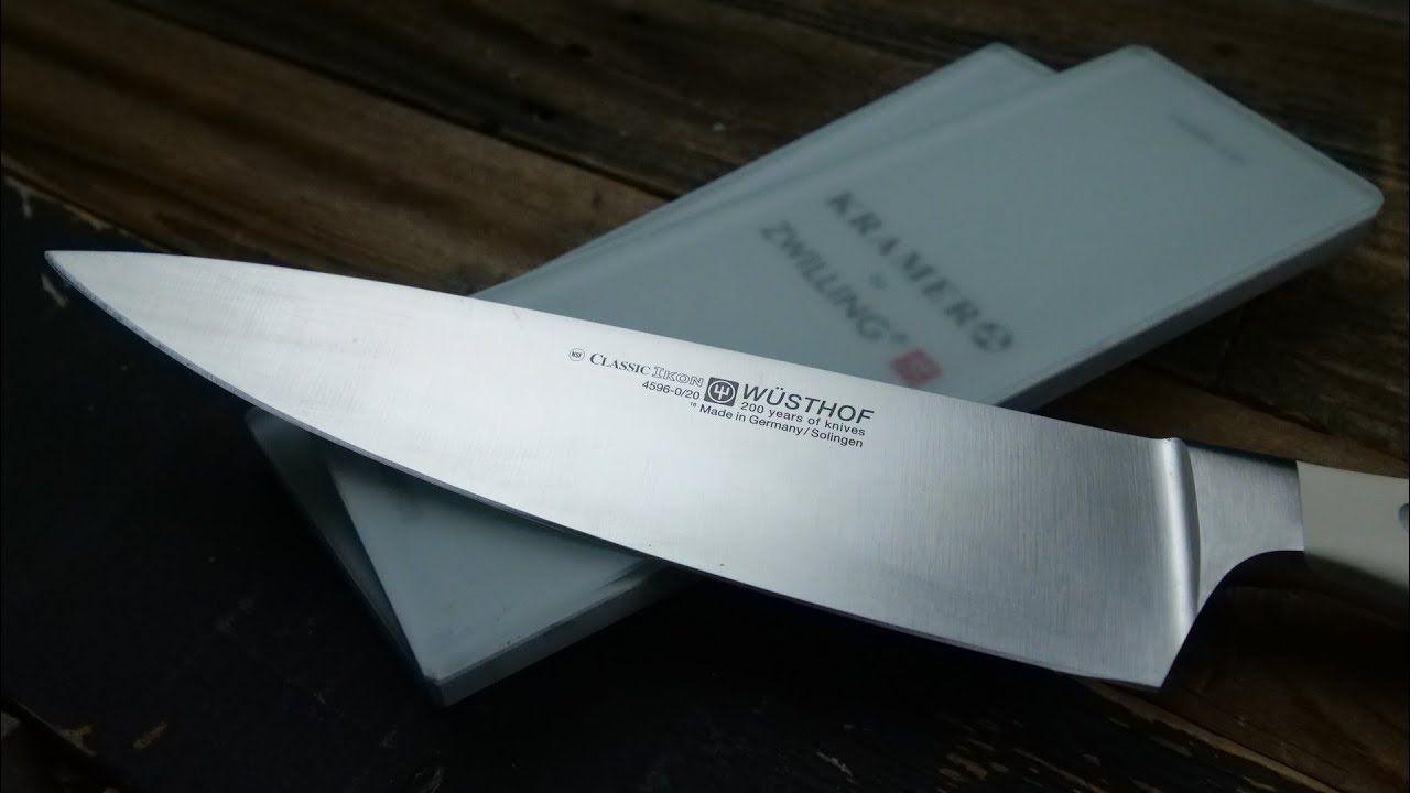 How to hand sharpen wusthof chef knife on whetstone