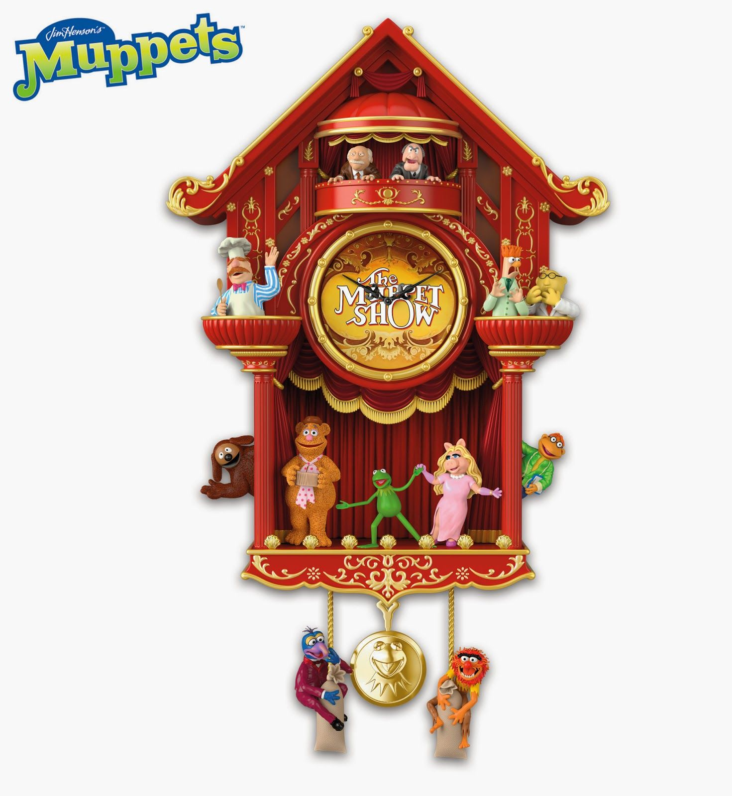 Cool Cuckoo Clocks Muppet Stuff Bradford Exchange Muppet Show Clock Muppets