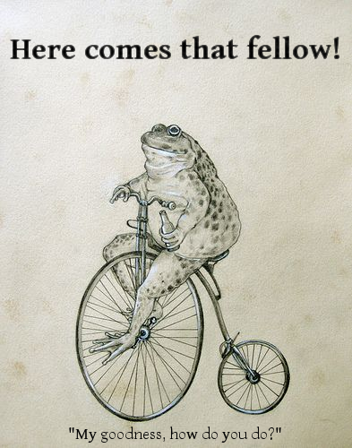 Riding A Penny Farthing In A Skirt And Heels Description From Pinterest Com I Searched For This On Bing Com Here Comes That Fellow Cute Frogs Funny Pictures