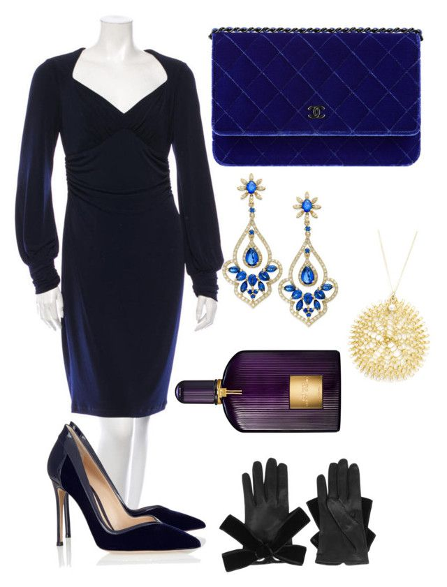 Devil in A Blue Dress by pradagucci on Polyvore featuring polyvore, fashion, style, David Meister, Gianvito Rossi, Effy Jewelry, YooLa, Alexander McQueen, Tom Ford, women's clothing, women's fashion, women, female, woman, misses and juniors